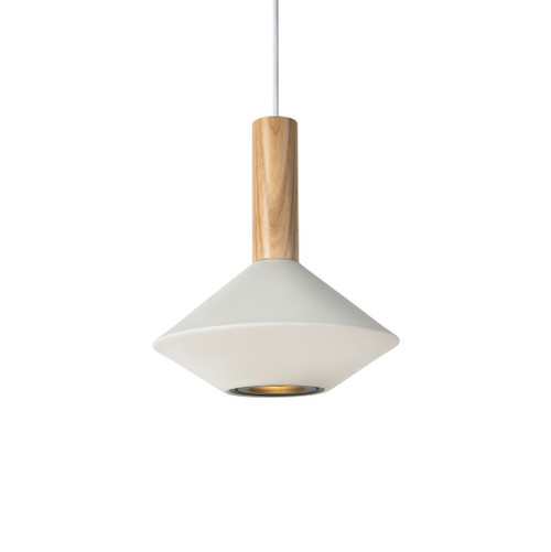 Moran Torch White Wood Top Pendant Light - Large