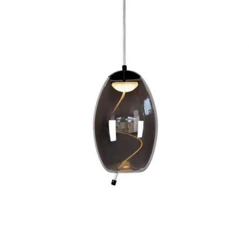 Nora Bell Smoke Glass Pendant Light