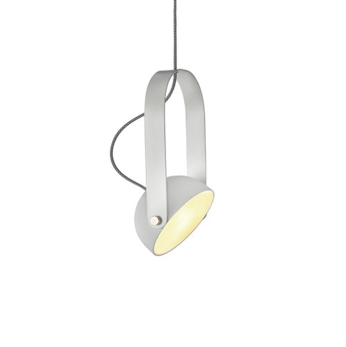 Pickman Dome White Adjustable Shade Pendant Light
