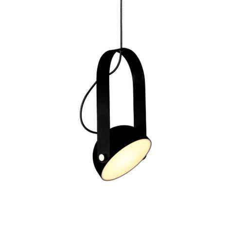 Pickman Dome Black Adjustable Shade Pendant Light