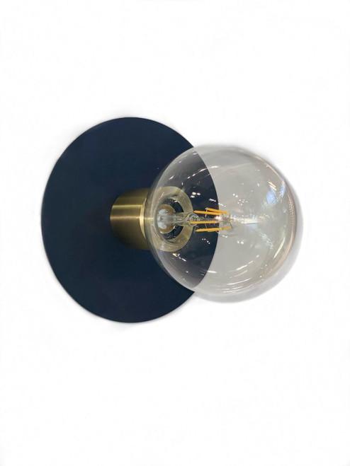 Luminate Disc Black Wall Light
