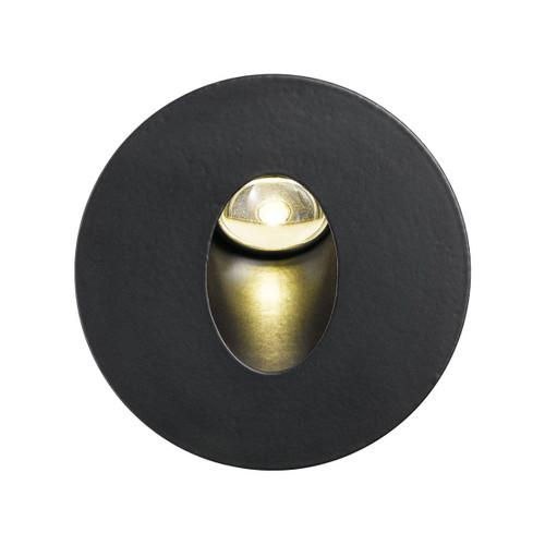 ML Round Black Step Light