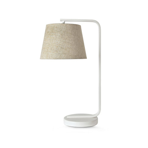 Dillon White with Linen Shade Table Lamp