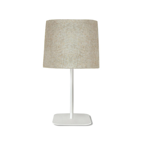 Harli White with Linen Shade Table Lamp