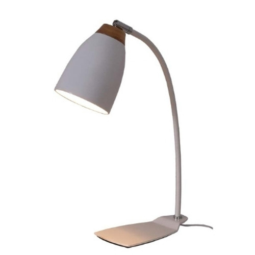 Watchman Bell White Wood Top Table Lamp