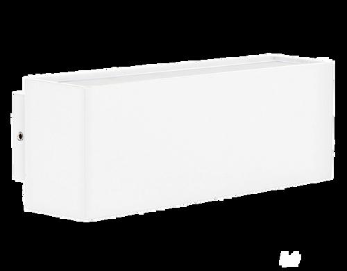 Blokk Matt White Up/Down Wall Light