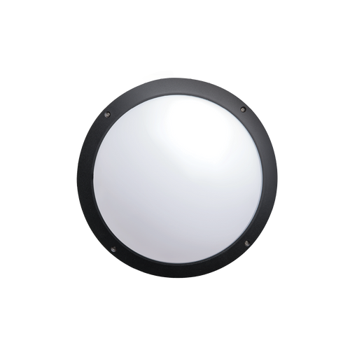 Lily Black 12W LED Exterior Wall Light