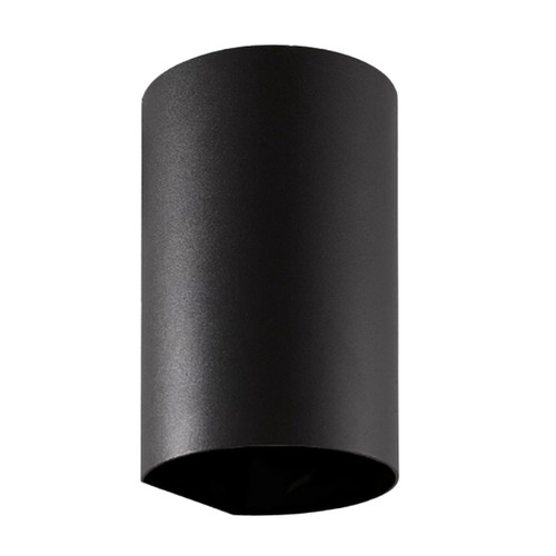 May Black Round Up/Down Exterior Wall Light