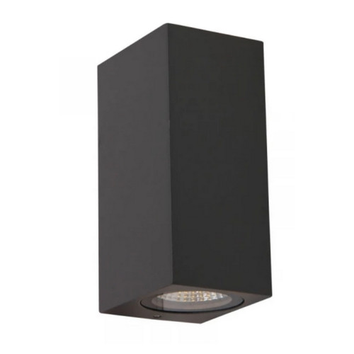 Sire Black Rectangle Up/Down Exterior Wall Light