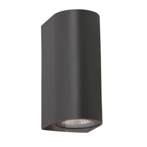 Sire Black Round Up/Down Exterior Wall Light