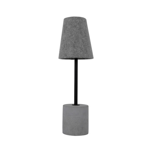 Josh Concrete Base with Fabric Shade Table Lamp