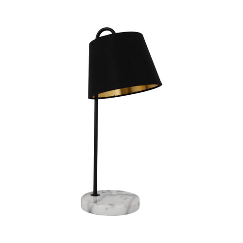 Reika Marble Base with Black Linen Shade Table Lamp