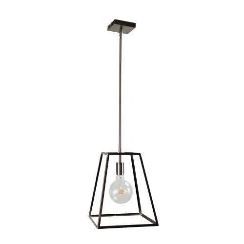 Whitby Brushed Chrome Hampton Pendant Light