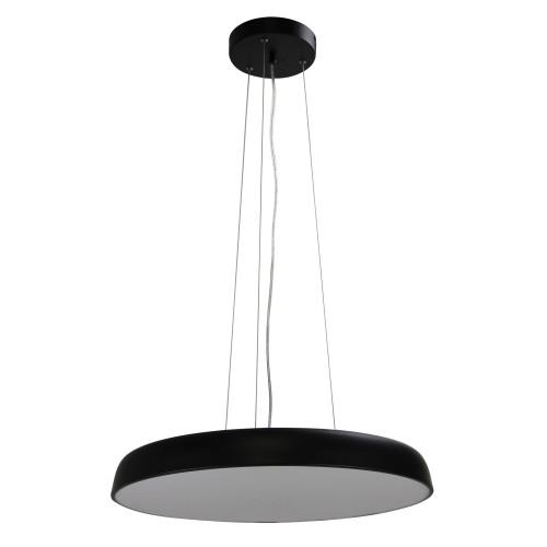 Mandy Disc Black CCT LED Contemporary Pendant Light