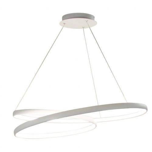 Spiral White LED Pendant Chandelier