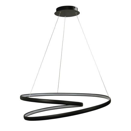 Spiral Black LED Pendant Chandelier