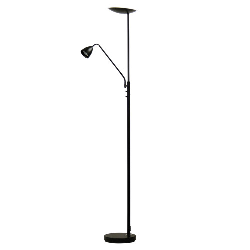 Contemporary Black Mother and Child LED Floor lamp