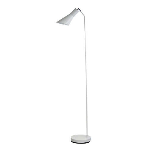 Toby White Modern Floor Lamp