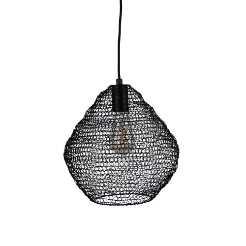 Lara Black Mesh Basket Pendant Light - Medium