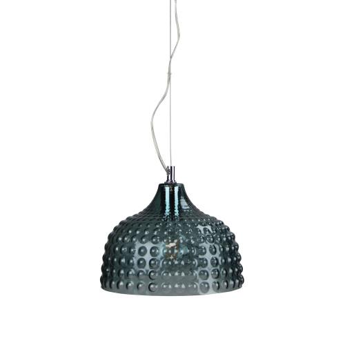 Bubbly Dome Mint Green Glass Pendant Light