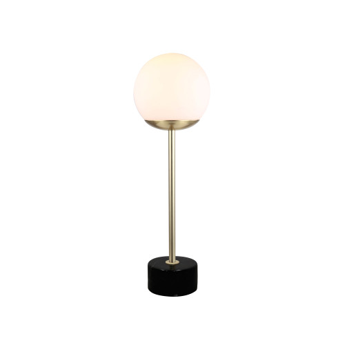 Jaxson Marble Base with Opal Glass Shade Table Lamp