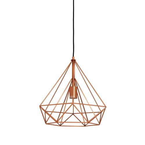 Mateo Angular Antique Copper Industrial Pendant Light