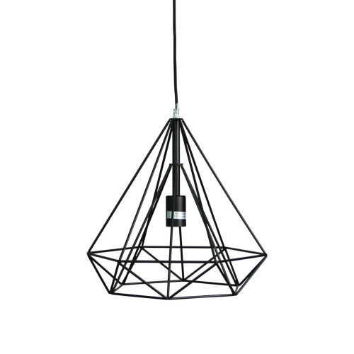 Mateo Angular Black Industrial Pendant Light