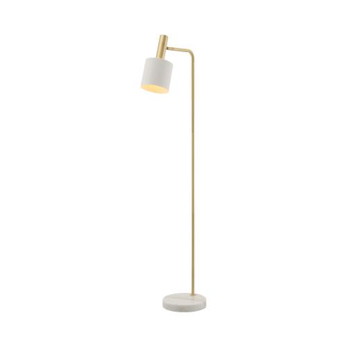 Denton Brass White Adjustable Floor Lamp