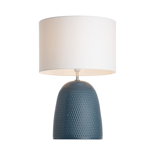 Baytown Dome Blue Textured Ceramic Base Table Lamp