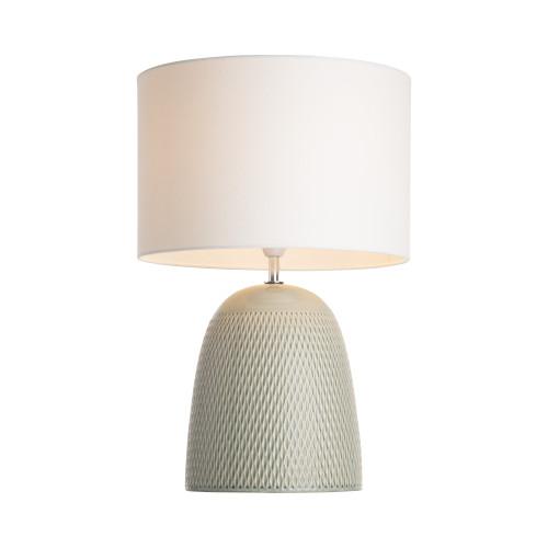 Baytown Dome Grey Textured Ceramic Base Table Lamp