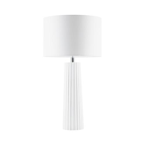 Carrolton Matt White Polyrisen Table Lamp