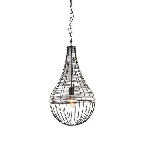 Harper Black Wire Shade Industrial Pendant Light