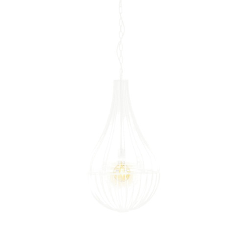 Harper White Wire Shade Industrial Pendant Light