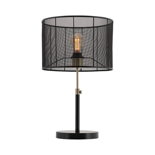 Ruston Matt Black Mesh Shade Table Lamp