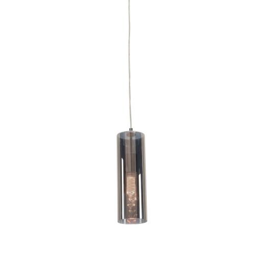 Tempe Cylindrical Smoke Glass Pendant Light