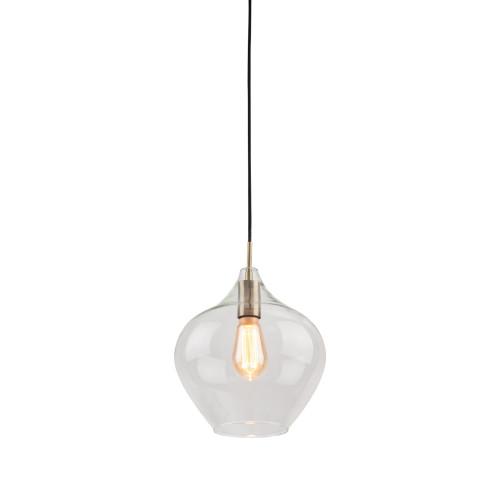 Howell Bulb Brass Clear Glass Pendant Light - Large