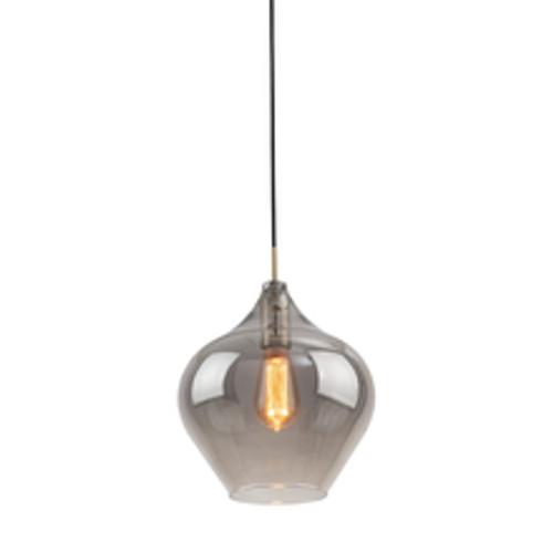 Howell Bulb Brass Smoke Glass Pendant Light - Large
