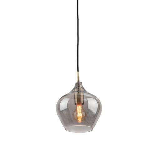 Howell Bulb Brass Smoke Glass Pendant Light - Small