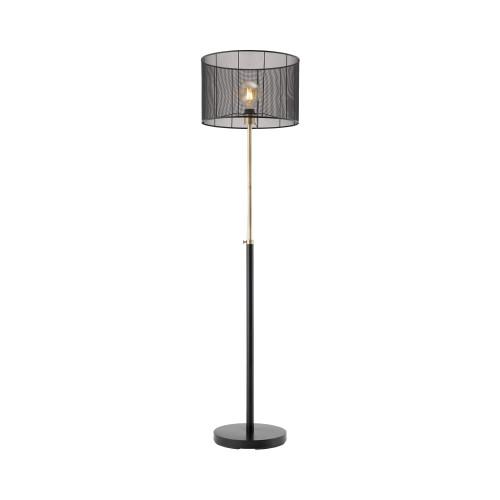 Ruston Matt Black Mesh Shade Floor Lamp