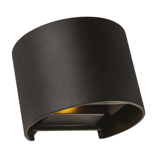 Clinton Black Up/Down Outdoor Wall Light