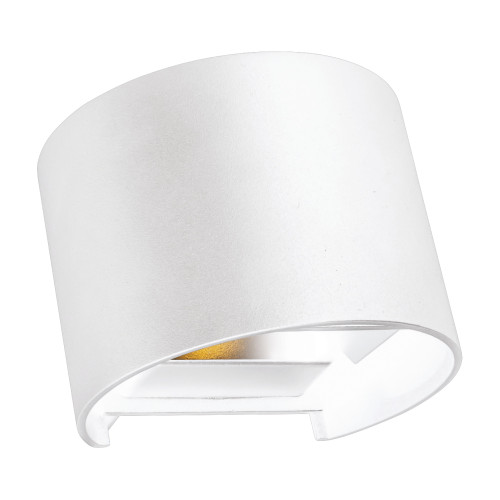 Clinton White Up/Down Outdoor Wall Light