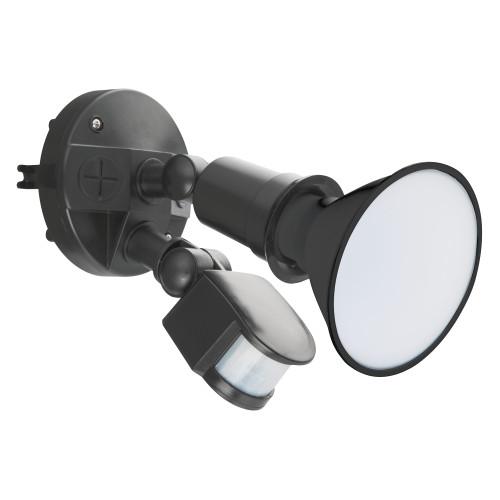 Casco Black Single Head Security Light with Sensor