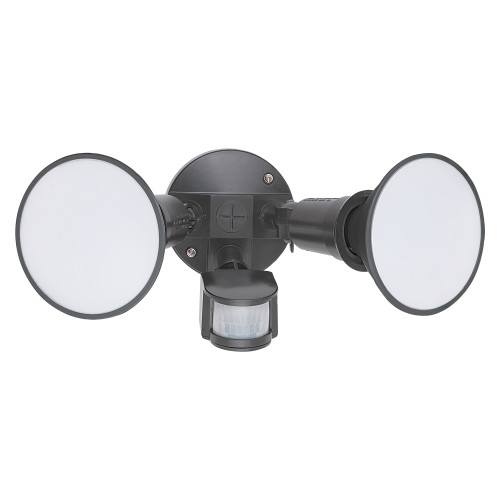 Casco Black Twin Head Security Light with Sensor