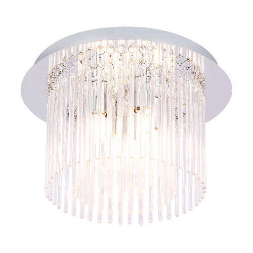 Bloomfield Crystal Glass 4 Light Decorative Close To Ceiling Light