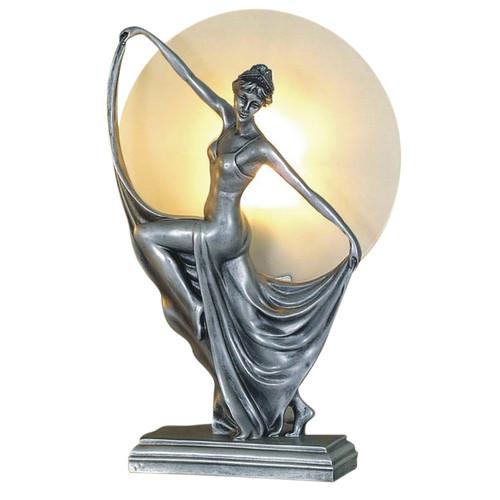 Antonia Dancing Silver Art Deco Table Lamp