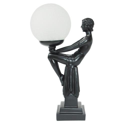 Valeria Black Art Deco Table Lamp
