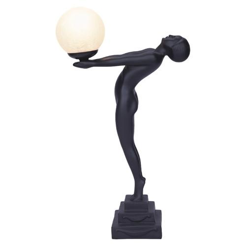 Lady Grace Black Art Deco Table Lamp