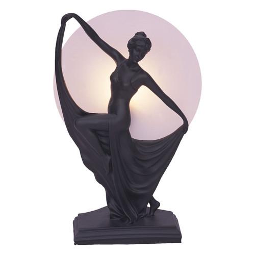 Antonia Dancing Black Art Deco Table Lamp