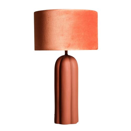 Virden Scalloped Metal Base Terracotta Table Lamp
