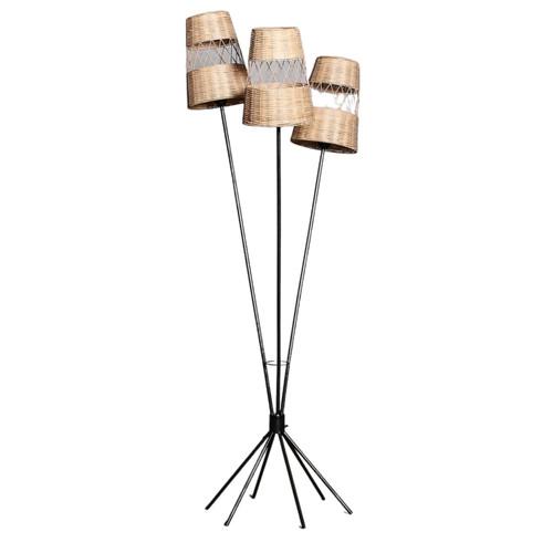 Trio Woven Rattan Floor Lamp